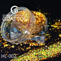 Голографические хлопья Gold 0.5g HL-002