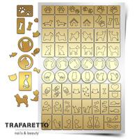 Трафарет для дизайна ногтей Trafaretto. Кошки и собаки
