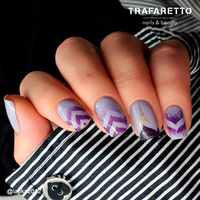 Трафарет для дизайна ногтей Trafaretto. Эффект водного маникюра