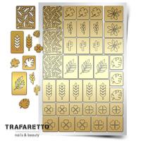 Трафарет для дизайна ногтей Trafaretto. Листья