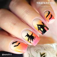 Трафарет для дизайна ногтей Trafaretto. Хэллоуин
