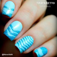 Трафарет для дизайна ногтей Trafaretto. Шевроны