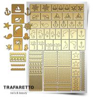 Трафарет для дизайна ногтей Trafaretto. Морской микс