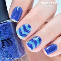 Трафарет для дизайна ногтей Trafaretto. Принт шевроны