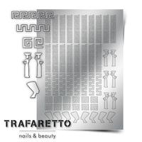 Металлизированные наклейки TRAFARETTO. Арт. OR-01, Серебро