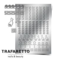 Металлизированные наклейки TRAFARETTO. Арт. OR-02, Серебро