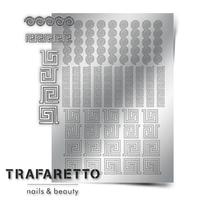 Металлизированные наклейки TRAFARETTO. Арт. OR-03, Серебро