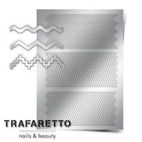 Металлизированные наклейки TRAFARETTO. Арт. OR-04, Серебро
