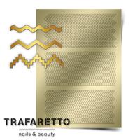 Металлизированные наклейки TRAFARETTO. Арт. OR-04, Золото