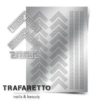 Металлизированные наклейки TRAFARETTO. Арт. OR-05, Серебро