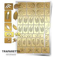 Трафарет для дизайна ногтей Trafaretto. Перышки