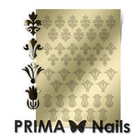Металлизированные наклейки Prima Nails. Арт.PR-004, Золото