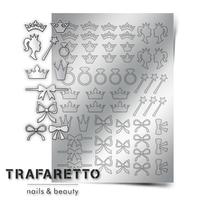 Металлизированные наклейки TRAFARETTO. Арт. PR-01, Серебро