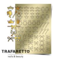 Металлизированные наклейки TRAFARETTO. Арт. PR-01, Золото