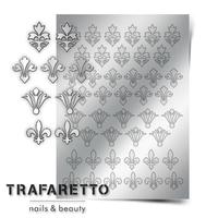 Металлизированные наклейки TRAFARETTO. Арт. PR-02, Серебро