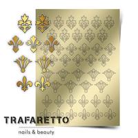 Металлизированные наклейки TRAFARETTO. Арт. PR-02, Золото