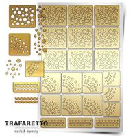 Трафарет для дизайна ногтей Trafaretto. Принт горошек