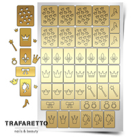 Трафарет для дизайна ногтей Trafaretto. Принцесса