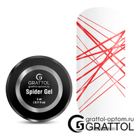 Гель-паутинка  Grattol Spider Gel    RED
