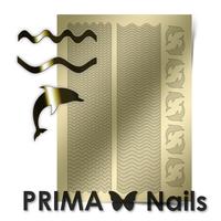 Металлизированные наклейки Prima Nails. Арт.SEA-002, Золото