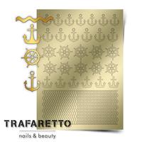 Металлизированные наклейки TRAFARETTO. Арт. Sea-01, Золото