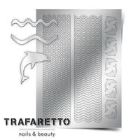 Металлизированные наклейки TRAFARETTO. Арт. Sea-02, Серебро
