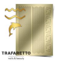 Металлизированные наклейки TRAFARETTO. Арт. Sea-02, Золото