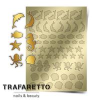 Металлизированные наклейки TRAFARETTO. Арт. Sea-04, Золото