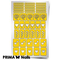 Трафарет для дизайна ногтей PrimaNails. Сердечки
