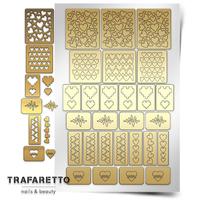 Трафарет для дизайна ногтей Trafaretto. Сердца