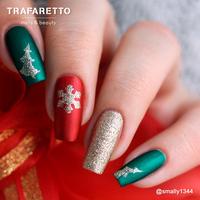 Трафарет для дизайна ногтей Trafaretto. Рождество