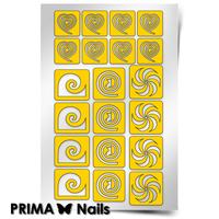 """Трафарет для дизайна ногтей PrimaNails. Спирали """"Фантазия"""""""