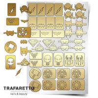 Трафарет для дизайна ногтей Trafaretto. Супергерои