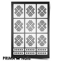 Трафарет для ногтей PrimaNails.NEW SIZE Уголки