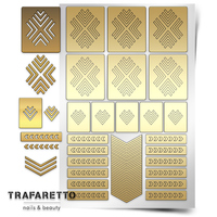 Трафарет для дизайна ногтей Trafaretto. Уголки