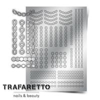 Металлизированные наклейки TRAFARETTO. Арт. UZ-01, Серебро