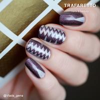 Трафарет для дизайна ногтей Trafaretto. Принт зигзаг