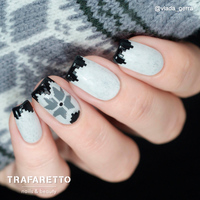 Трафарет для дизайна ногтей Trafaretto. Зима