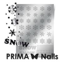 Металлизированные наклейки Prima Nails. Арт.W-01, Серебро