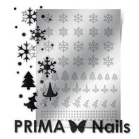 Металлизированные наклейки Prima Nails. Арт.W-02, Серебро