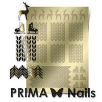 Металлизированные наклейки Prima Nails. Арт.W-04, Золото