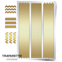 Трафарет для дизайна ногтей Trafaretto. Зигзаги
